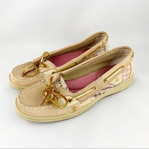 • Sperry Top Sider Pink Sequin Boat Shoes •